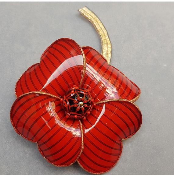 Broche Fleur Strillé